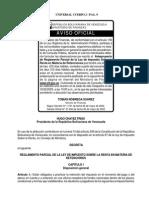 Reglamento Parcial de Retenciones de ISLR