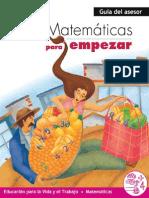 Matematicas Para Empezar _guia_asesor