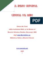 Canonul Cel Mare Al Sf. Andrei Criteanul