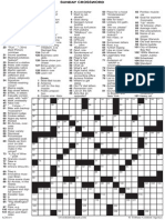 Crossword Puzzle for Sunday, May 4.