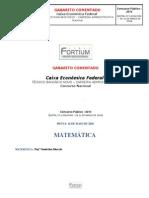 Gabarito Comentado CEF Nacional 16 Mai 10 Fortium
