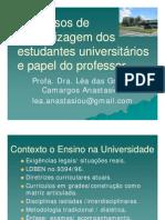 Processos de Aprendizagem e Papel Professor [Modo de Compatibilidade]