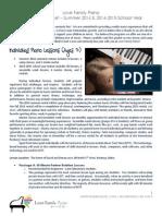 Official LFP Summer & Fall Registration Packet 2014-2015