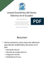 Análisis Económico Del Sector Eléctrico en El Ecuador