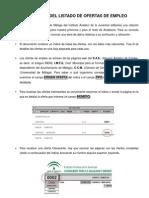 Guía de uso listado Ofertas de Empleo