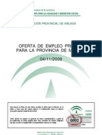 Oferta Empleo Privado Málaga