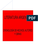 Panorama de La Literatura Argentina I