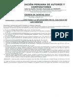 Tarifario 2014 Completo Apdayc