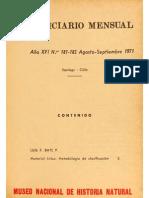 BATE, L. Material Lítico-Metodología de Clasificación. 1971