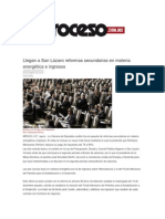 30-04-2014 Proceso.com.mx -Llegan a San Lázaro reformas secundarias en materia energética e ingresos.