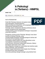 Kode Etik Psikologi Indonesia 2010