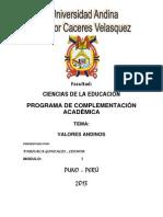 Leonor Parisaca Gonzales - Valores Andinos