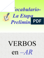 LOS VERBOS Flashcards