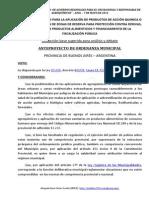 Anteproyecto de Ordenanza de Regulación de Aplicaciones de Fitosanitarios en Áera Periurbana