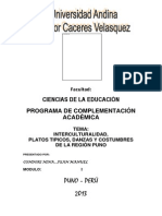 Juan Manuel Condori Nina - Interculturalidad