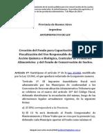 Anteproyecto de Ley de Creación Del Fondo Afectado Ley 10699 -Mod Ley