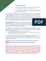 Tendencias de La Investigación Básica y de Aplicación