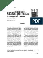 Estudios Clinicos en Neuropsicoanalisis Introduccion a La Neuropsicologia Profunda