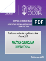 Mod I PoliticaCurricularCbaAperturaPostitulo2013