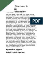 TOEFL Questions Types