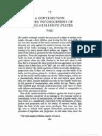 Klein, Psychogenesis of Manic-Depressive States