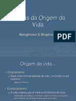 Aula 01 - Teorias Da Origem Da Vida.ppt - PROF. TEREZA