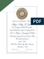 Mayors Ball 2014 - Invitation