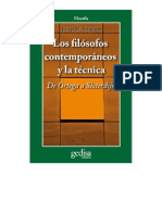 Los Filosofos Contemporaneos y La Tecnica Parte 1