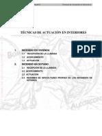 TÉCNICAS DE ACTUACIÒN EN INTERIORES BOMBEROS COMUNIDAD DE MADRID