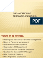 Chp 2- Org of Personnel Functions