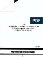 Cod Proiectare Structuri Cadre Ba NP 007-97