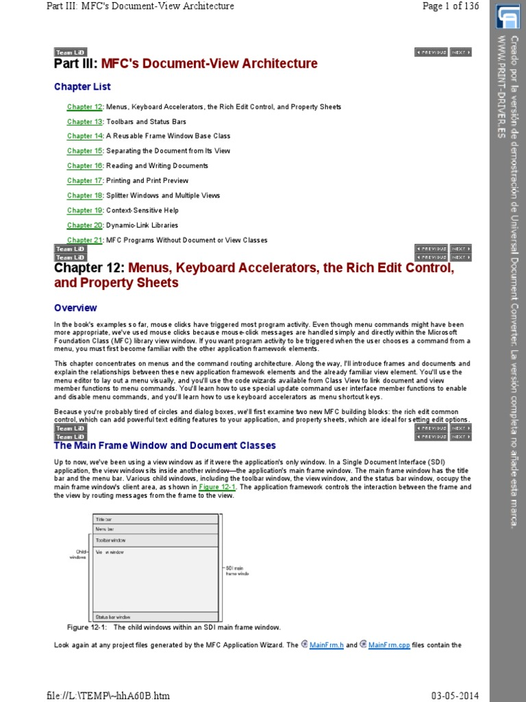 7_Part III MFC's Document-View Architecture | Keyboard Shortcut