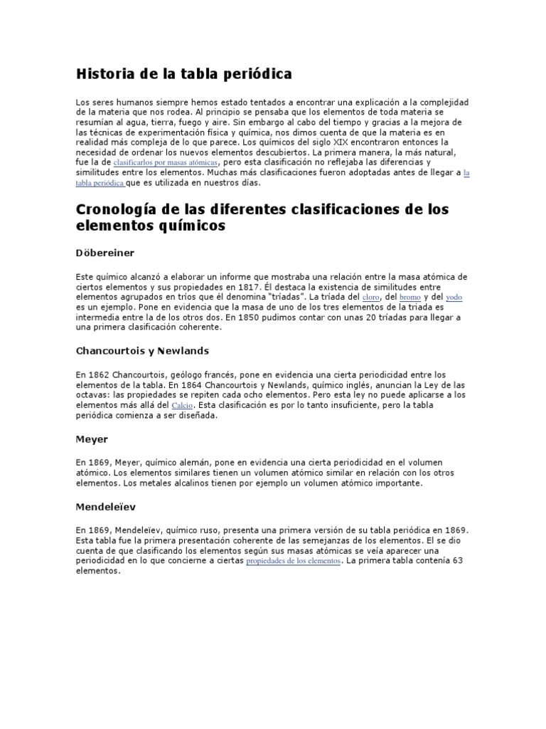 Historia de la tabla peridica urtaz Image collections