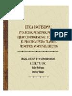 ETICA PROFESIONAL. Clases Facultad de Ingenieria.