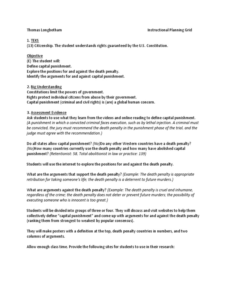8th amendment day 4 | capital punishment | punishments