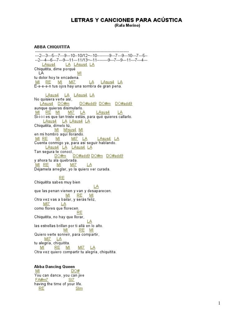 Canciones Y Letras Para Acústica Entretenimiento General Naturaleza
