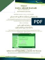 Aplikasi Bahasa Arab Dasar (Badar) Offline
