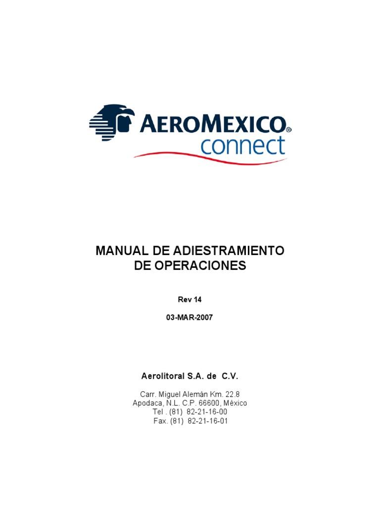 Manual de Adiestramiento de Operaciones (R14)