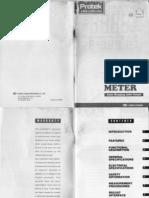 Manual y Diagrama Esquematico de Multimetro Digital Protek 506
