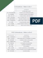 FCE Collocations