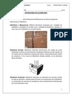 Conceptos en Albañileria