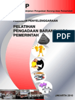 Pedoman Pelatihan PBJ-LKPP-2010