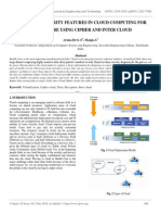 Enhancing Security Features in Cloud Computing for Healthcare Using Cipher and Inter Cloud