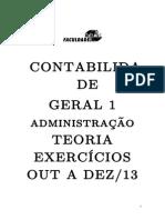 CONT GERAL 1 - APOSTILA teor + exerc OUT A DEZ 2013 (1)