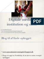 Digitale Medier i Institution Og Skole