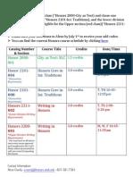 FALL SEMESTER Add Code Communication 2013