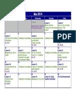 unit calendar 2