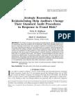 Do strategic reasoning and brainstorming help auditors change their standard audit procedures in response to fraud risk