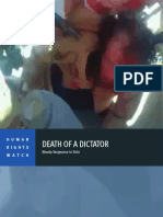 Death of the Dictator Gadaffi Summary