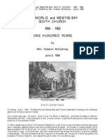Skelmorlie - South Church - 100 Years - 1856 - 1956 - Booklet - Wm  Newton McCartney